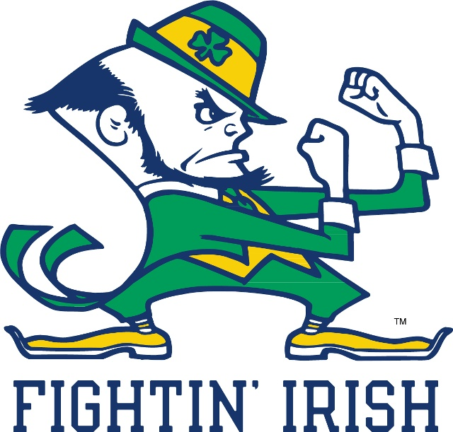 University of Notre Dame Leprechaun Logo