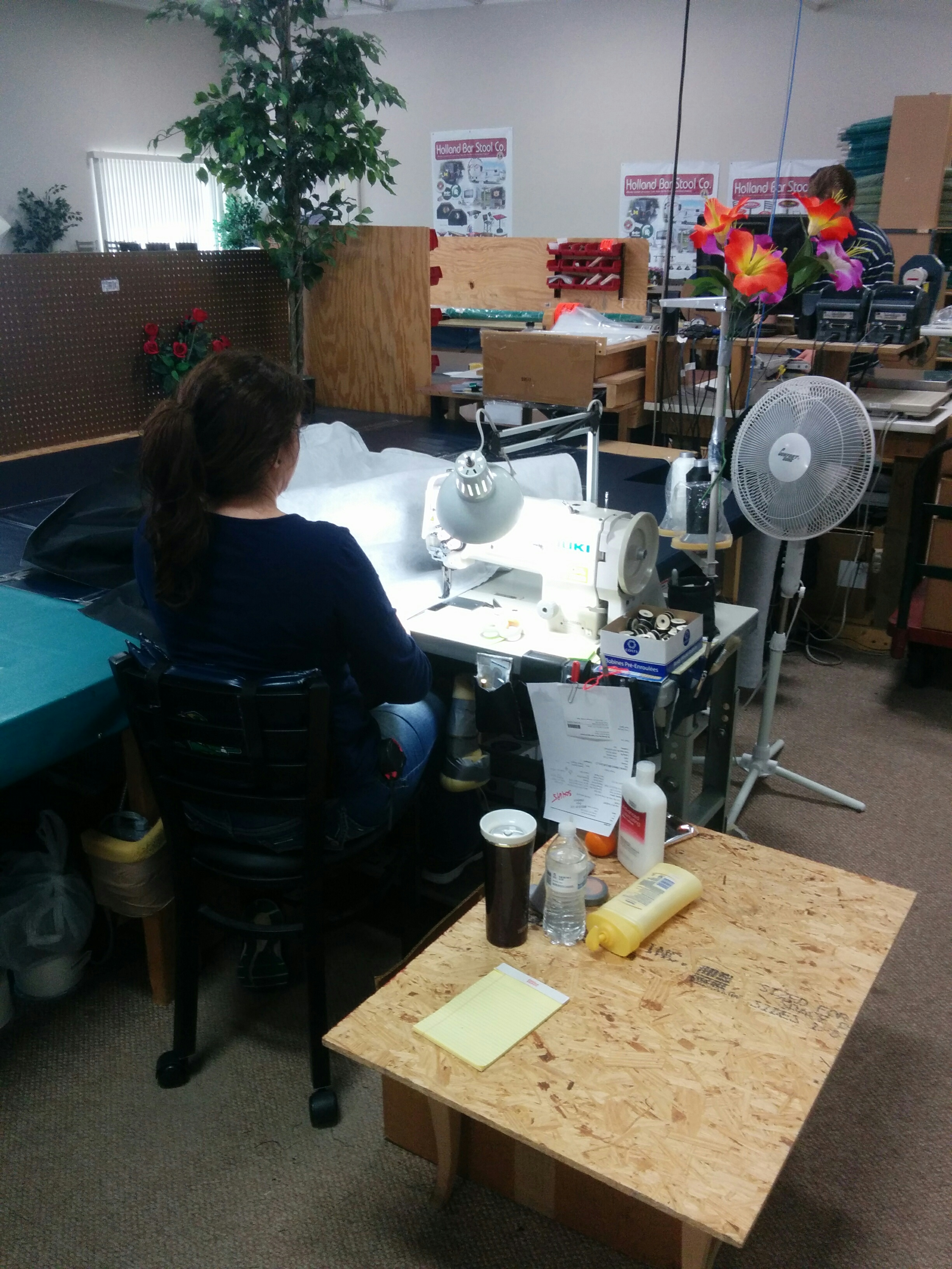 Tire Cover Sewing Room