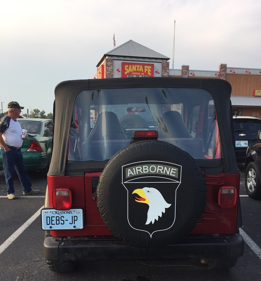 Army Airborne Tire Cover