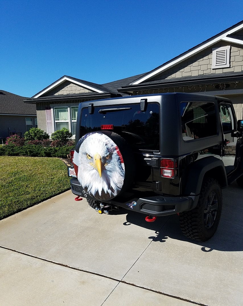 American Bald Eagle Jeep Tire Cover