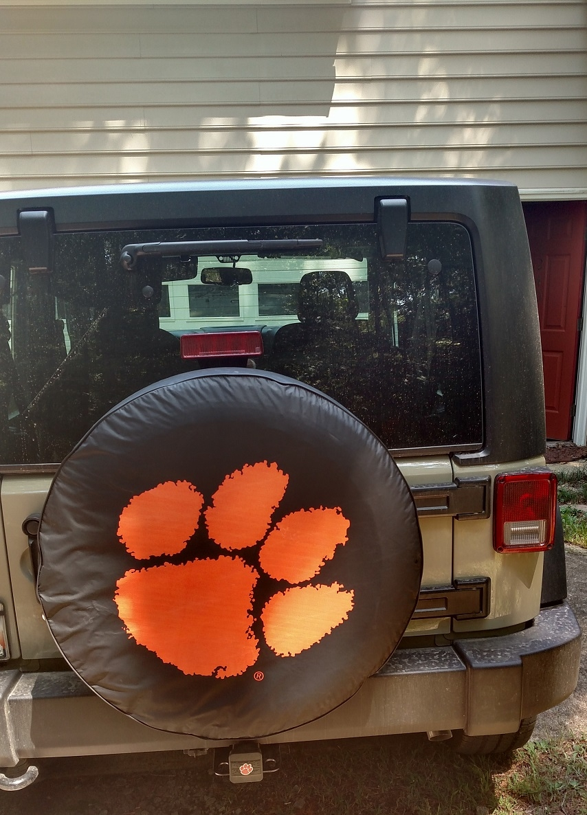 Clemson Tiger Jeep Tire Cover