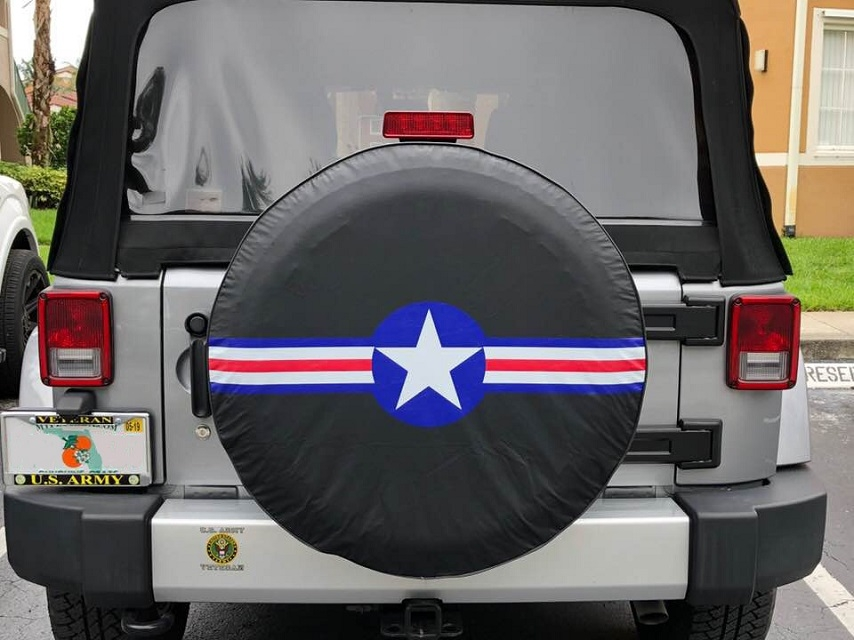 Military Star jeep tire cover