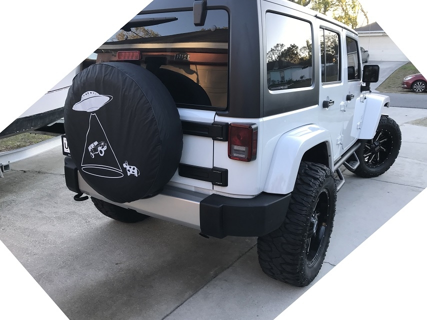 Custom jeep tire covers