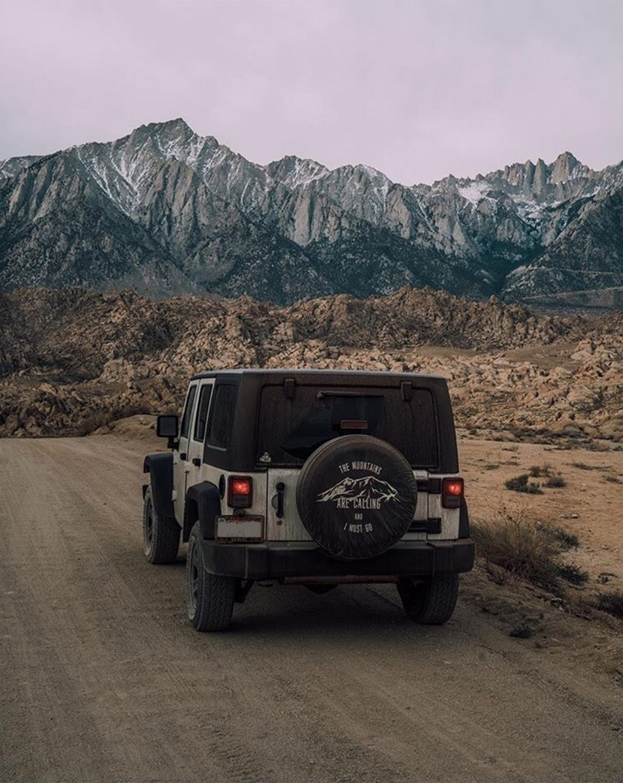 Custom Mountain Tire Cover