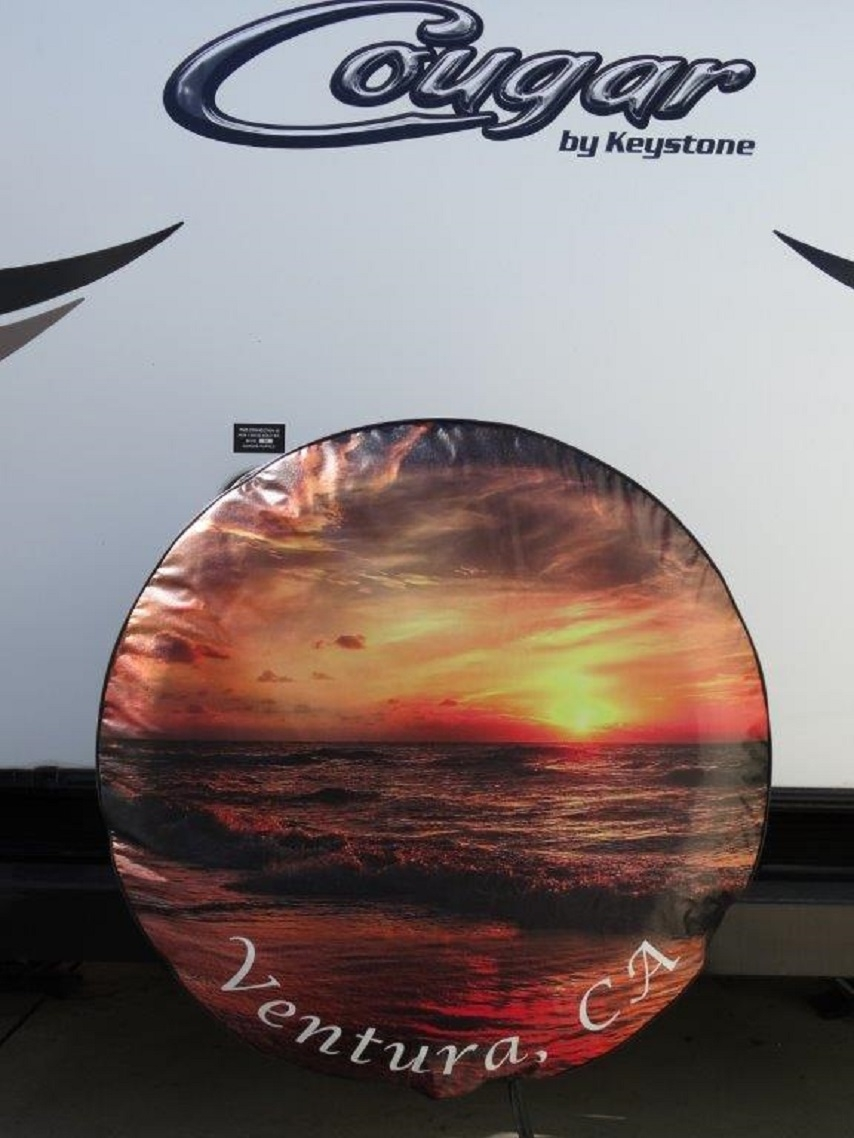Custom RV Spare Tire Covers