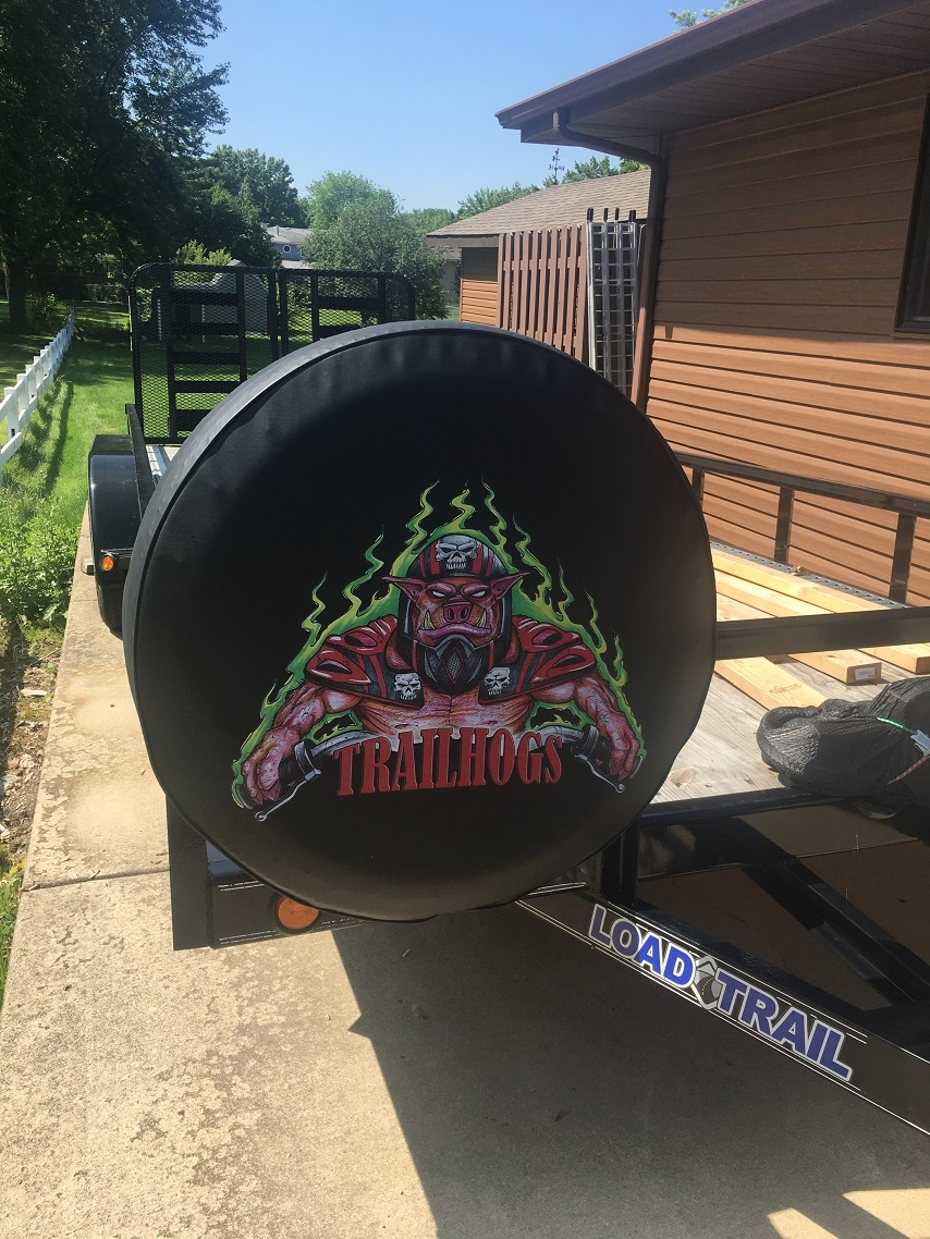 Custom Made Tire Covers for Trailers