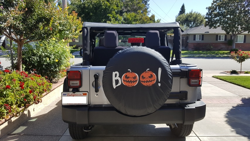 Halloween Pumpkin Tire Cover