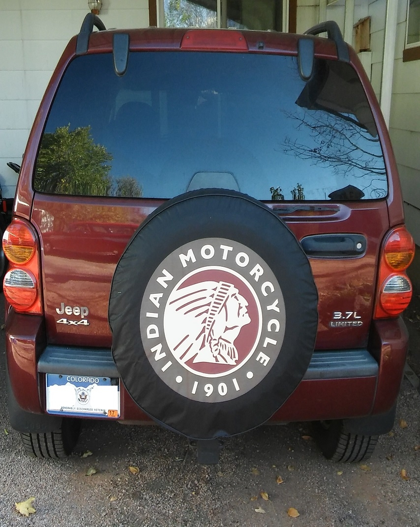 Indian Motorcycle Tire Cover
