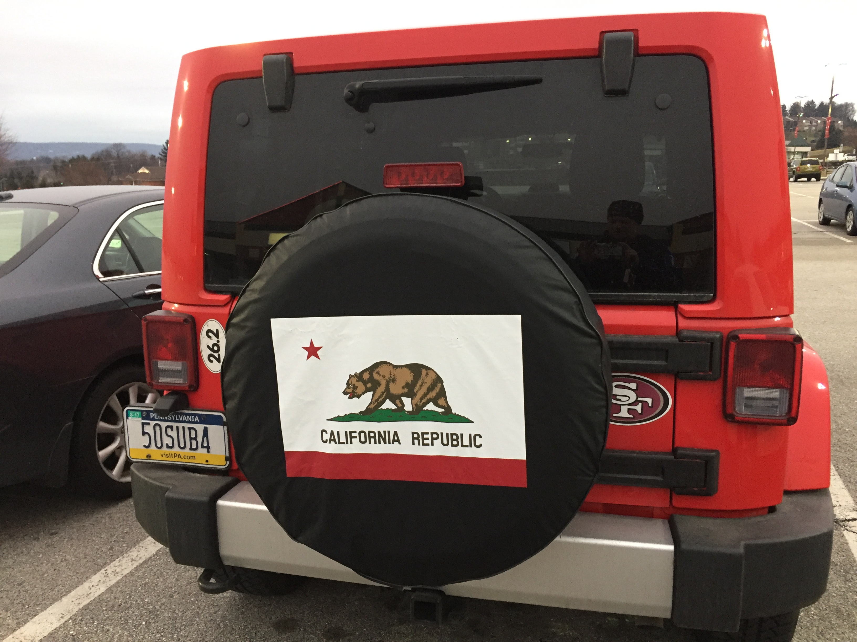 California State Flag Tire Cover