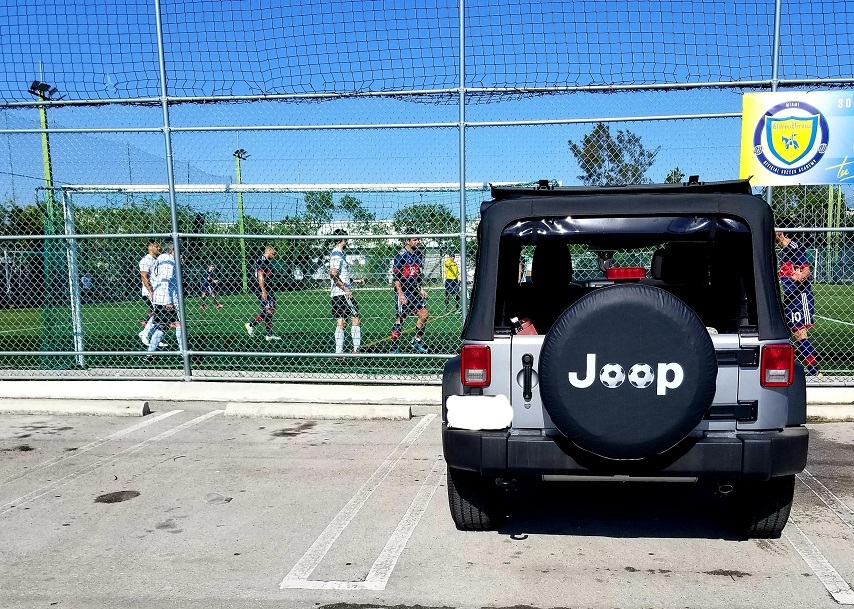 Jeep Soccer Balls Tire Cover