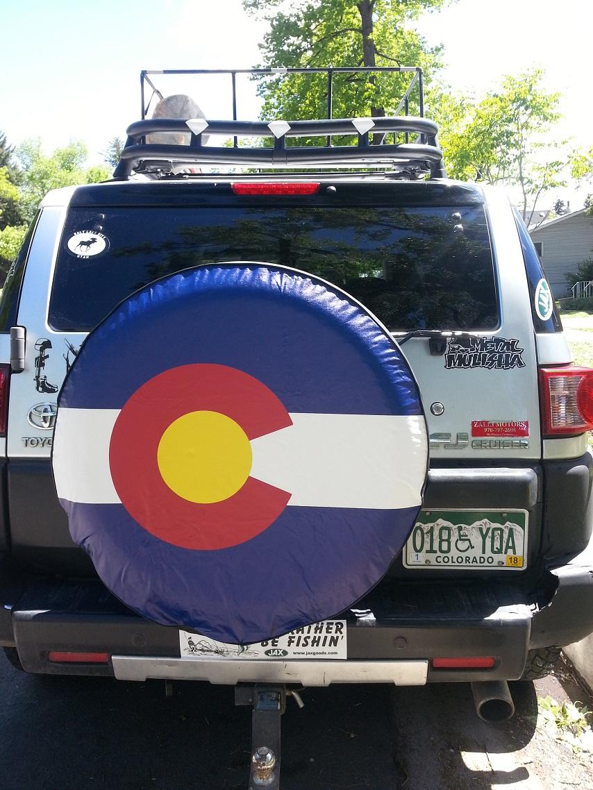 State of Colorado Closeup Flag