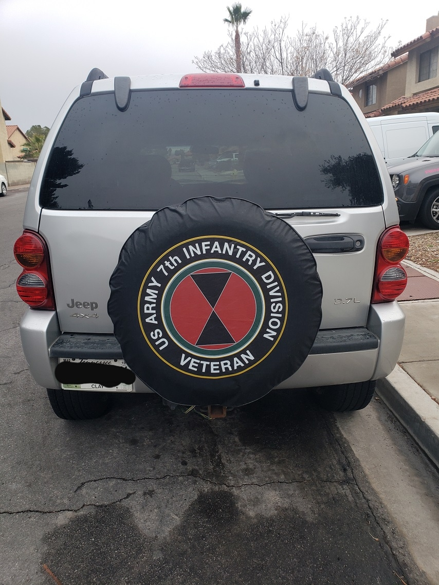 U.S. Army 7th Infantry Veteran tire cover