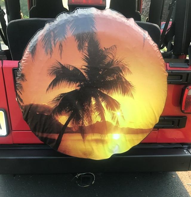 Tropical Beach Tire Cover