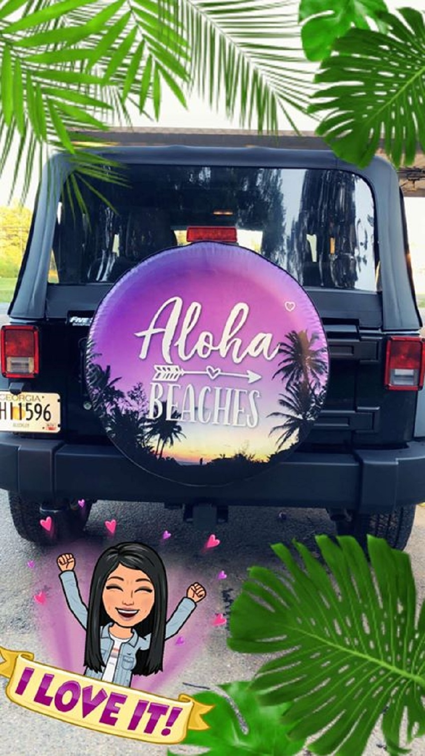 Custom Beach Tire Covers for Summer