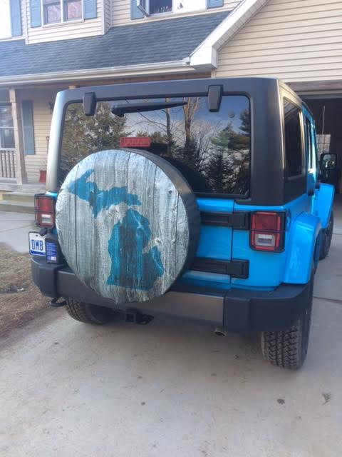 State of Michigan Spare Tire Cover