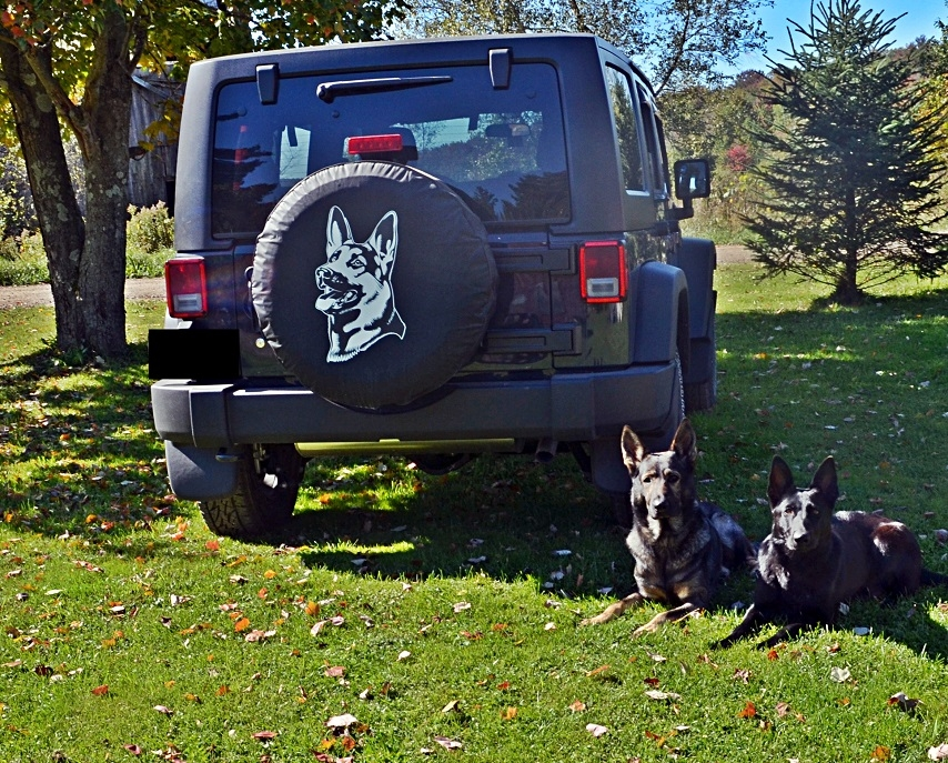 German Shepherd Tire Cover