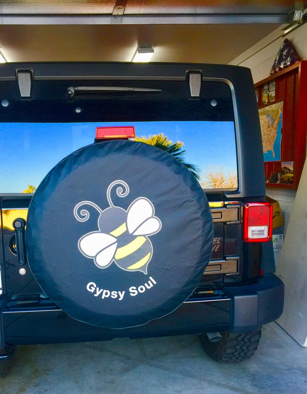 Bumble Bee Custom Tire Cover for Jeep Wranglers