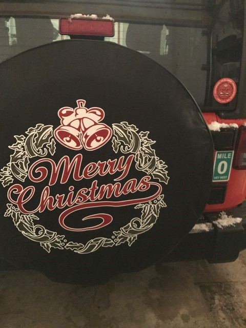 Merry Christmas Tire Cover