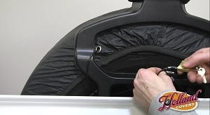 Tire Cover Installation with Cable and Lock
