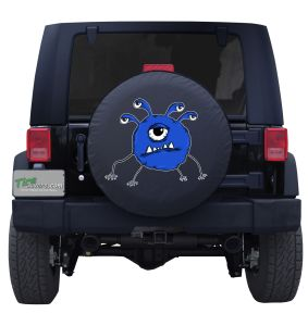 Five Eyed Alien Tire Cover