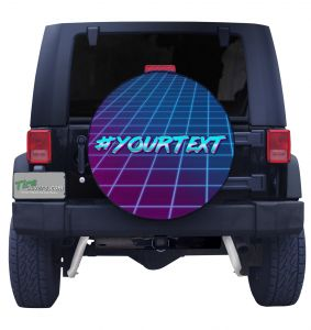 Hashtag Your Text Retro Front View