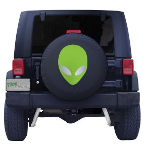 Alien Head Spare Tire Cover Front