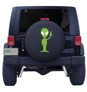 Alien Peace Spare Tire Cover Front