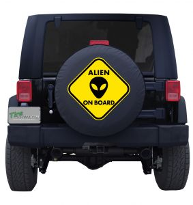 Alien on Board Tire Cover