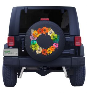 Hawaii Lei Flower Wreath Tire Cover