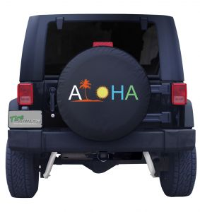 Aloha Palm Color Tire Cover