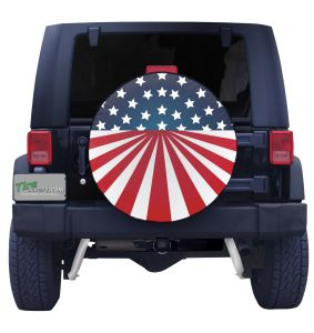 American Flag Circular Tire Cover Front