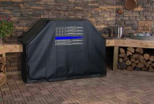 American Flag Ammo Thin Blue Line BBQ Grill Cover