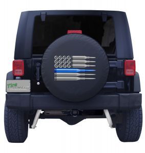 American Flag Ammo Tire Cover
