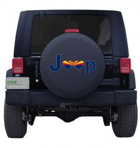 Arizona Jeep Flag Tire Cover