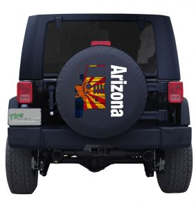 Arizona Jeep Flag Wordmark Tire Cover