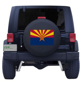 Arizona Flag Tire Cover Front