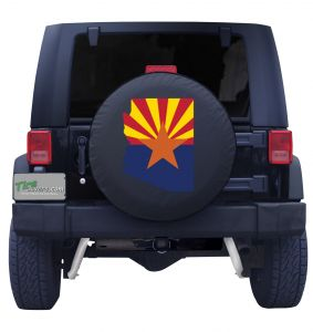 Arizona State Flag Outline Tire Cover