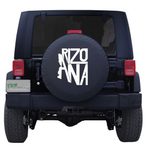 Arizona State Word Outline Tire Cover