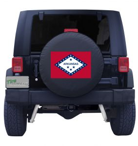 Arkansas State Flag Tire Cover Front