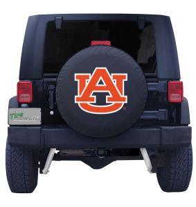 Auburn University Tigers Black Vinyl Spare Tire Cover Front