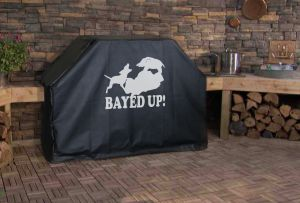 Bayed up Hog Hunting Logo Grill Cover
