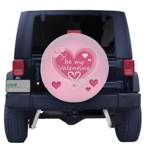 Be My Valentine Tire Cover