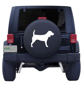 Beagle Silhouette Jeep Tire Cover Front
