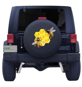 Bees and Honey Tire Cover Front