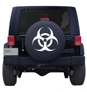 Biohazard Symbol Tire Cover