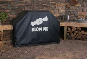Blow Me Duck Call Logo Grill Cover