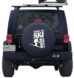Born To Ski Custom Tire Cover Jeep Wrangler