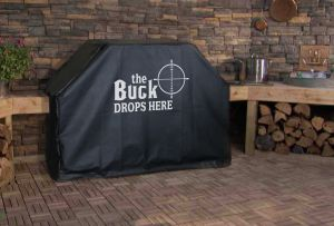 The Buck Drops Here Logo Grill Cover