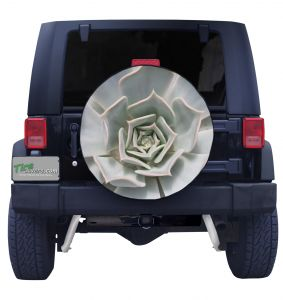 Cactus Flower Tire Cover