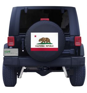 California State Flag Black Vinyl Front View